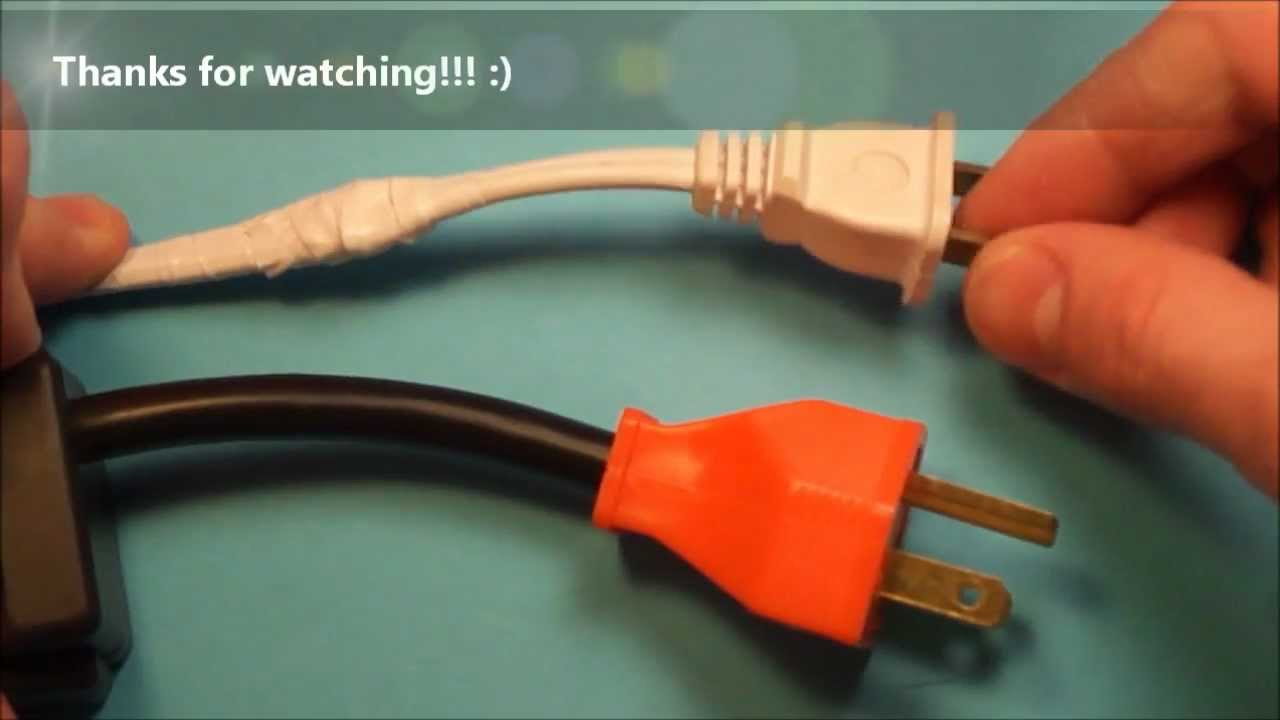 How to Fix a Broken Electrical Cord  Wire  YouTube