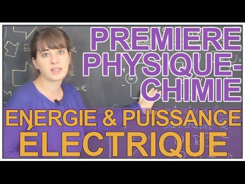 Energie et puissance électrique - Physique-Chimie - 1ère S - Les Bons Profs