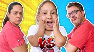 Maria Clara na História Engraçada do PAPAI VS MAMÃE   Dad vs Mom - MC Divertida