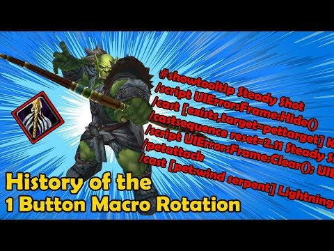 History Of The 1 Button Macro Hunter Rotation In TBC