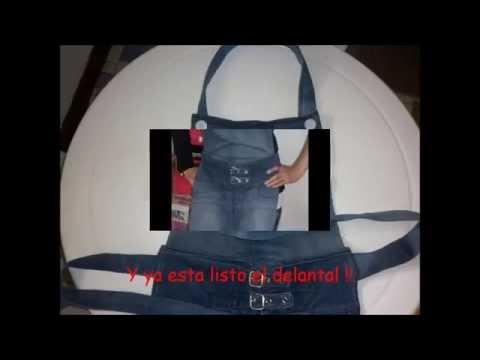 Delantal de Pantalón de Jean reciclado - Apron recycled jean