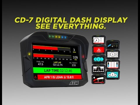AEM CD-7 Dash Display Overview!