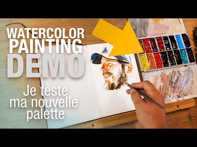🎨 Demo Aquarelle - Portrait de Chris Pratt pour tester ma NOUVELLE PALETTE! Et j'ADORE!