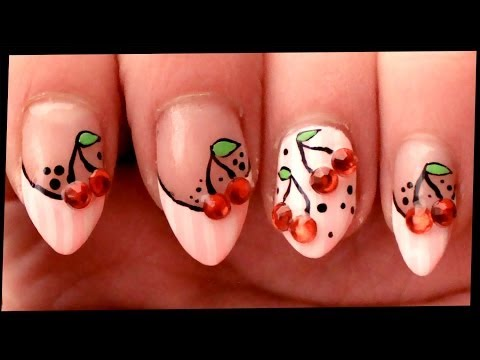 Pink Flowers Nail Art Tutorial // Freehand Summer Nail Art at Home from YouTube · Duration:  8 minutes 50 seconds