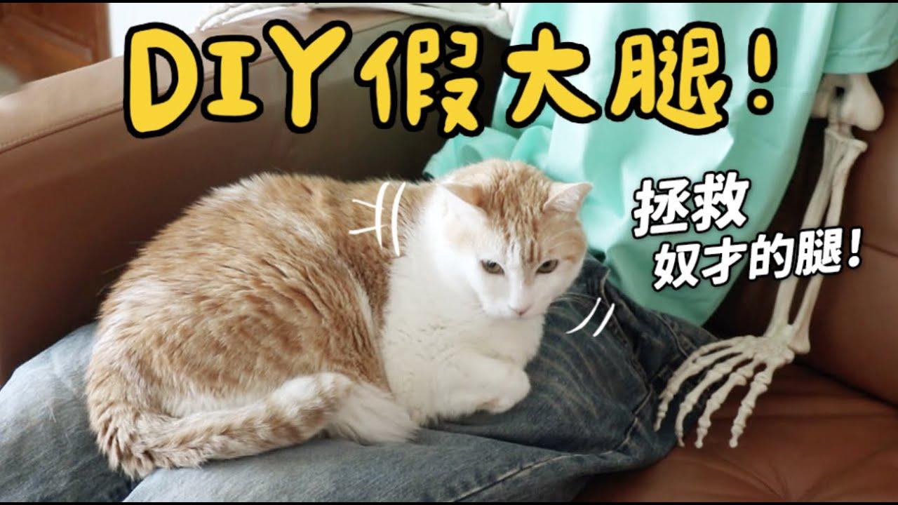 【黃阿瑪的後宮生活】DIY假大腿!拯救奴才的腿!