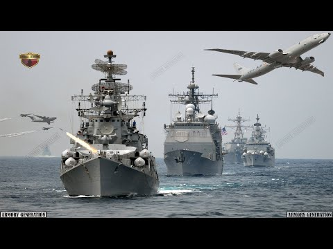 The navies of India, Singapore, US, Japan and Australia are conducting large-scale drills near SCS