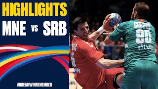 Montenegro vs. Serbia Highlights | Day 3 | Men's EHF EURO 2020