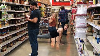 Workout IN A GROCERY STORE!! | Bulk Grocery Haul