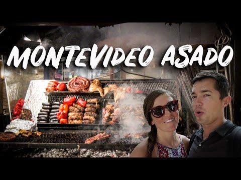 TRYING ASADO AT MERCADO DEL PUERTO Montevideo 4K (Montevideo Uruguay Travel)
