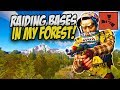 RAIDING BASES inside my HUGE FOREST! - Rust Solo Survival Gameplay