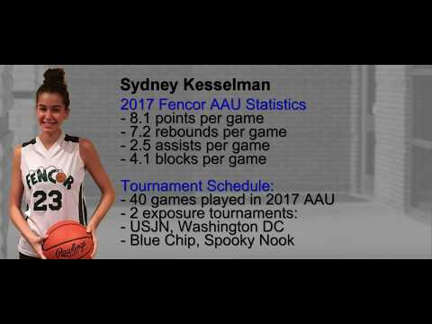 Sydney Kesselman - Girls Basketball Recruiting Video - Class of 2019