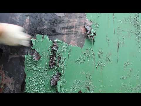 Как очистить ворота от старой краски видео