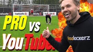 YOUTUBER vs PRO's - Epic Bundesliga Football Challenges - freekickerz