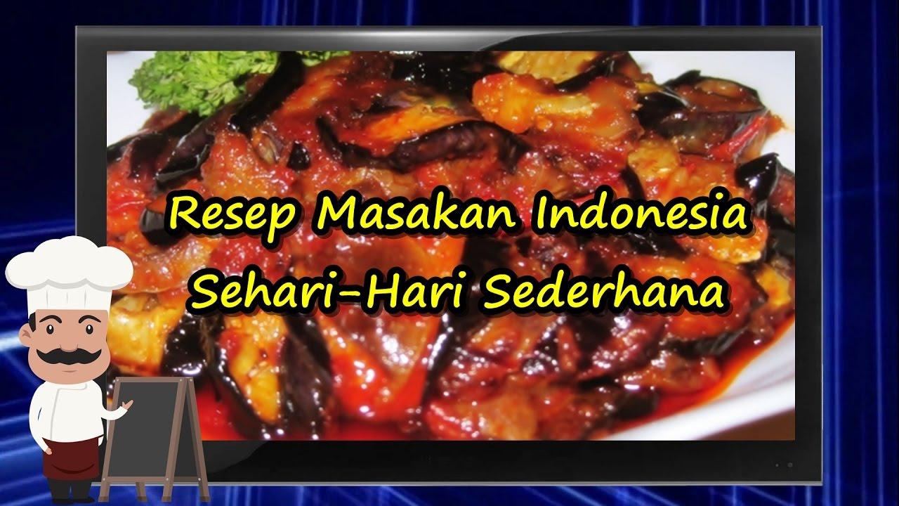 Resep Masakan Indonesia Sehari Hari Sederhana - YouTube