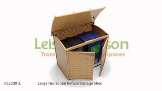 RSS2001L Large Horizontal Refuse Storage Shed