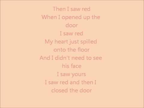 Warrant I saw red lyrics