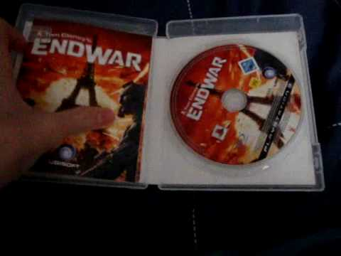 Endwar tom clancy's limited edition sony ps3 game & official.
