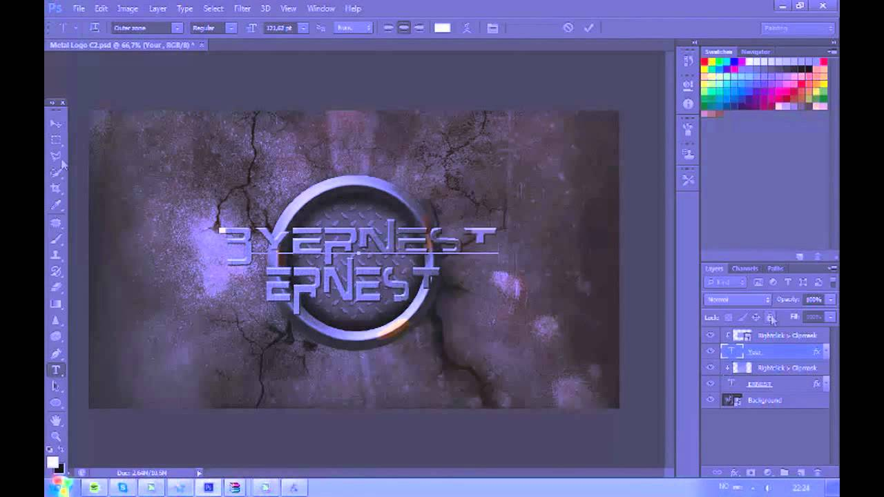 Free Logo Template for Photoshop CS6 [Download in DSC] - YouTube
