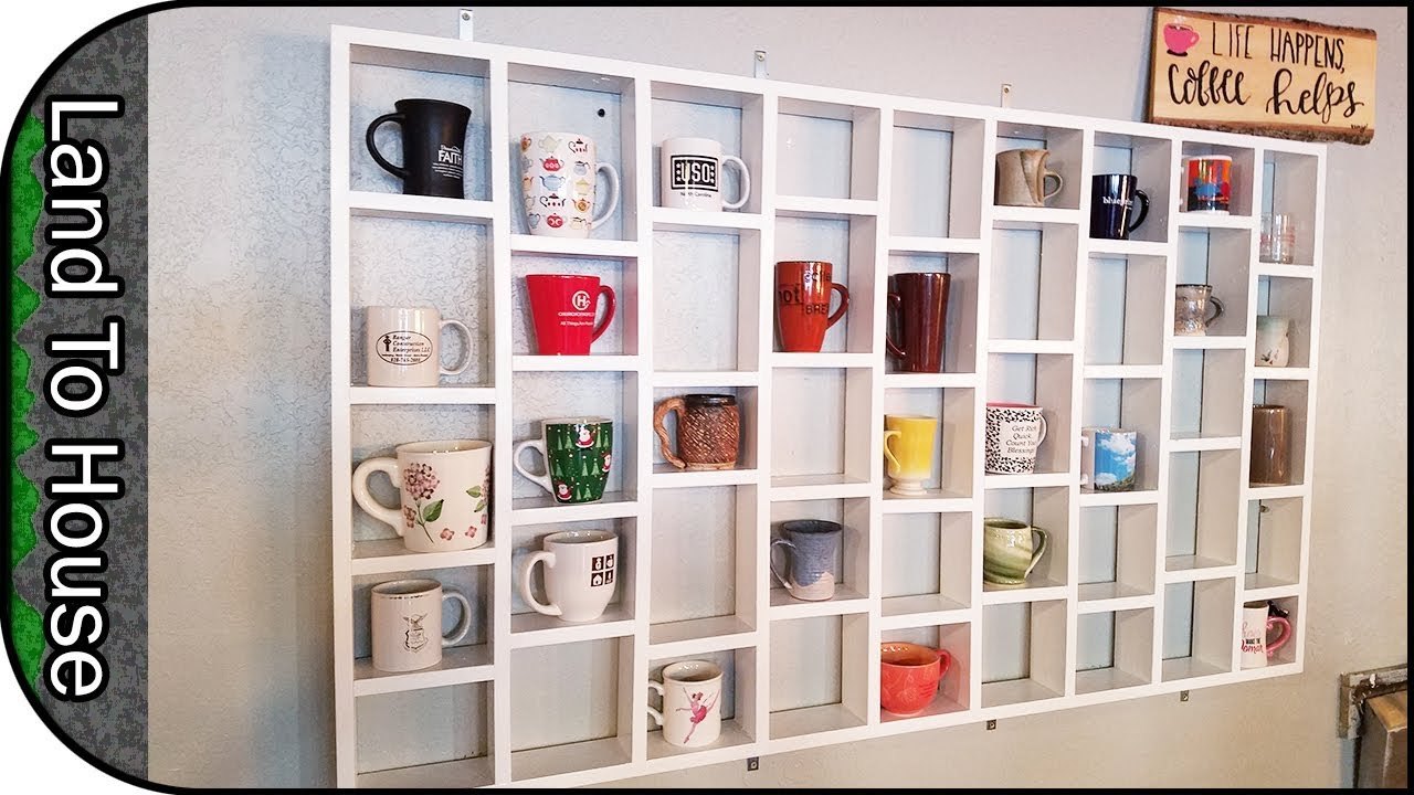 Diy Coffee Mug Holder Wall Mounted Rack
