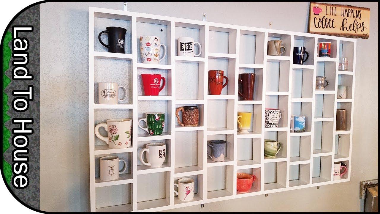 Diy Coffee Mug Holder Wall Mounted Rack Youtube