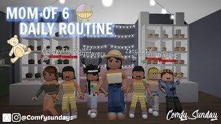 MOM OF 6 Routine Quotidienne!! II Roblox Bloxburg