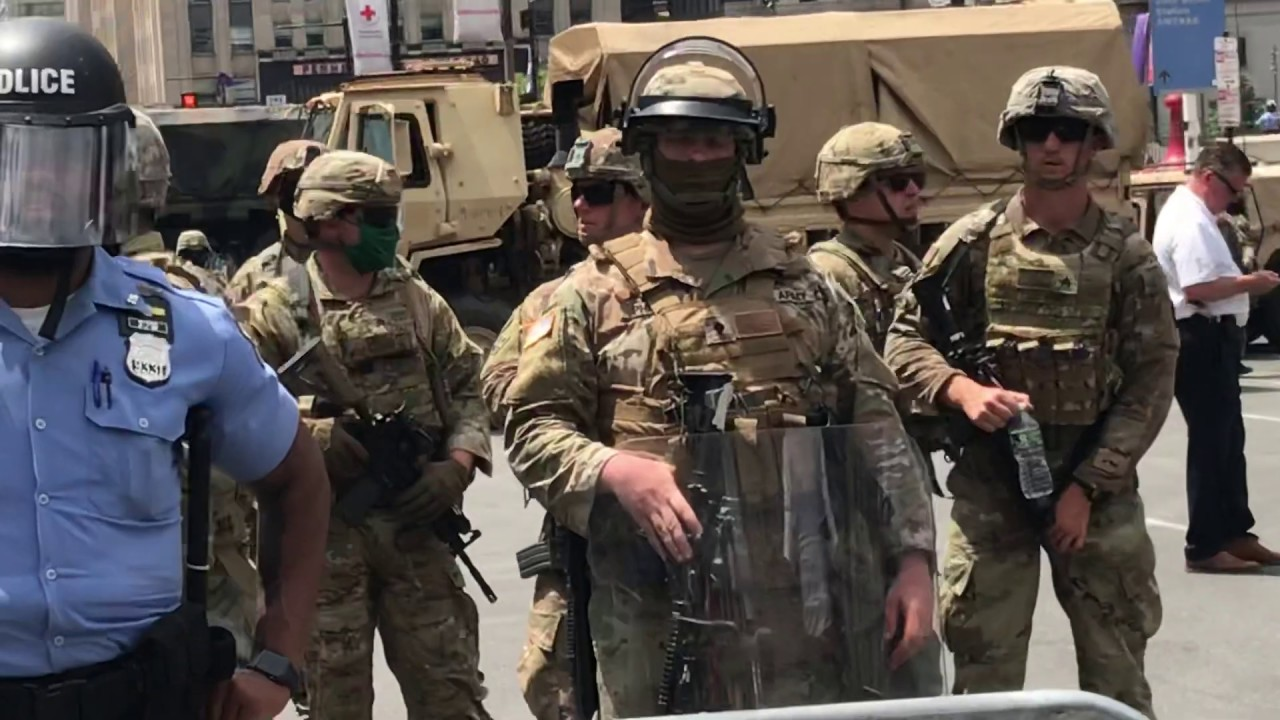 National guard in the streets of Philly