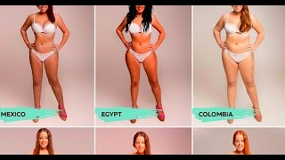 Editan el cuerpo de esta mujer para que sea hermosa en 10 países.