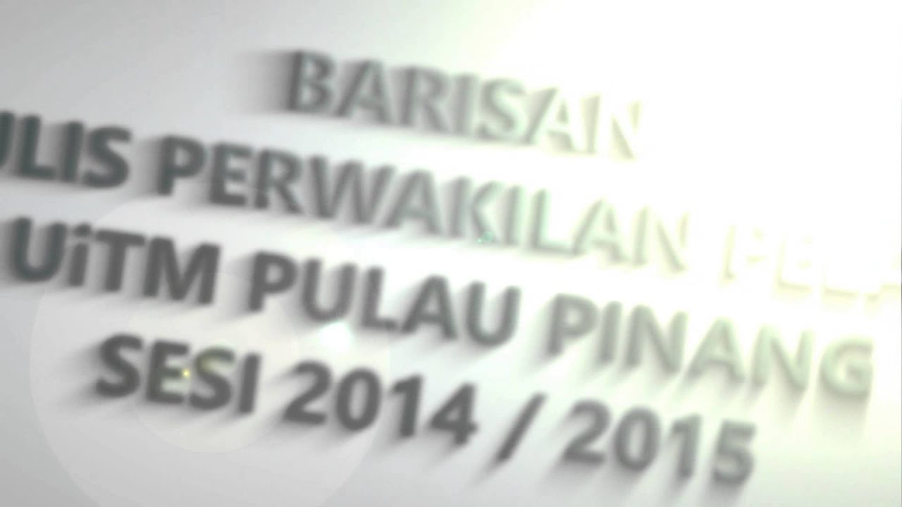 Majlis Perwakilan Pelajar UiTM Pulau Pinang Sesi 2014 / 2015