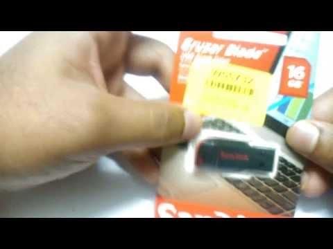 Unboxing Sandisk Cruzer Blade 16 GB USB Flash Drive