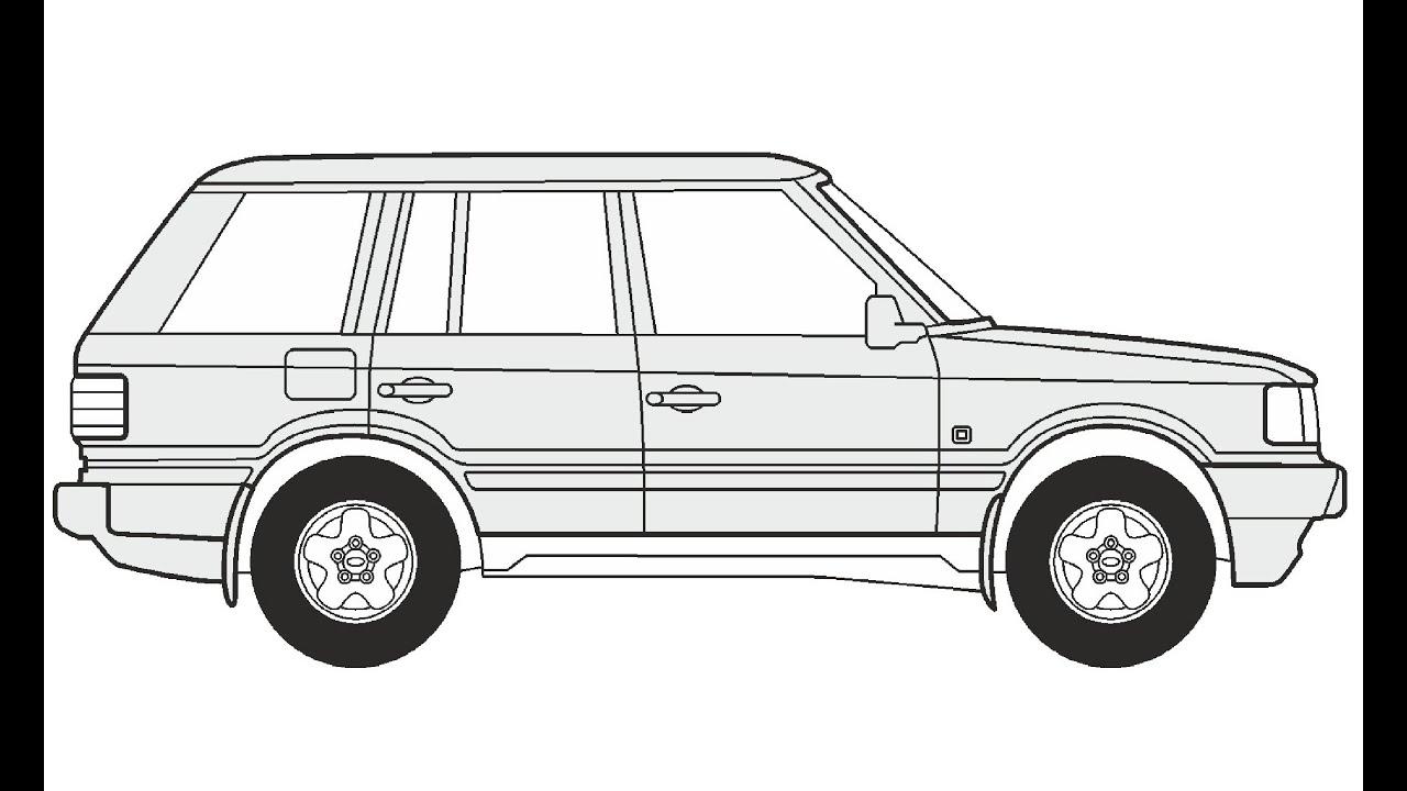 How to Draw a Range Rover / Как нарисовать Range Rover - YouTube
