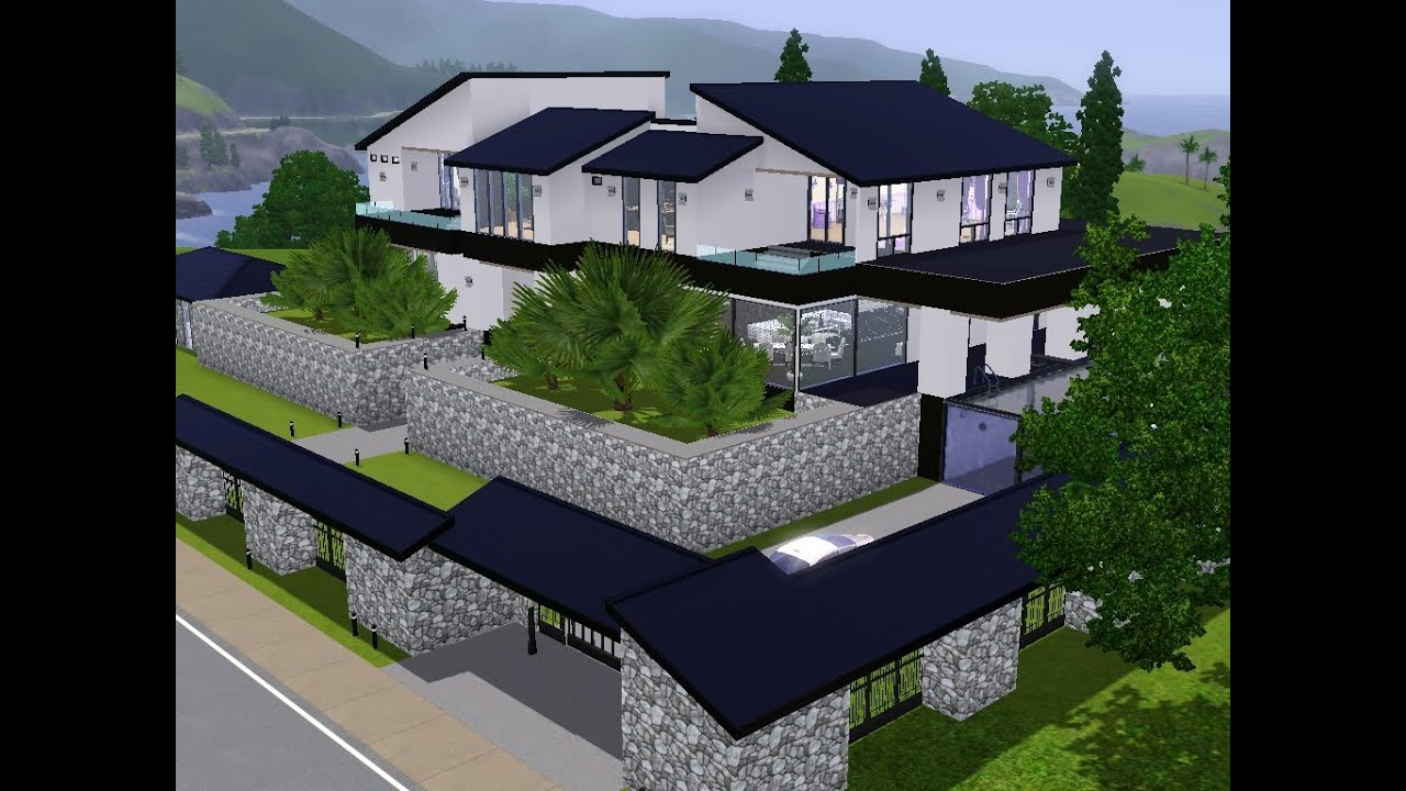 sims 3 haus bauen let 39 s build ein neues haus f r familie superreich youtube. Black Bedroom Furniture Sets. Home Design Ideas