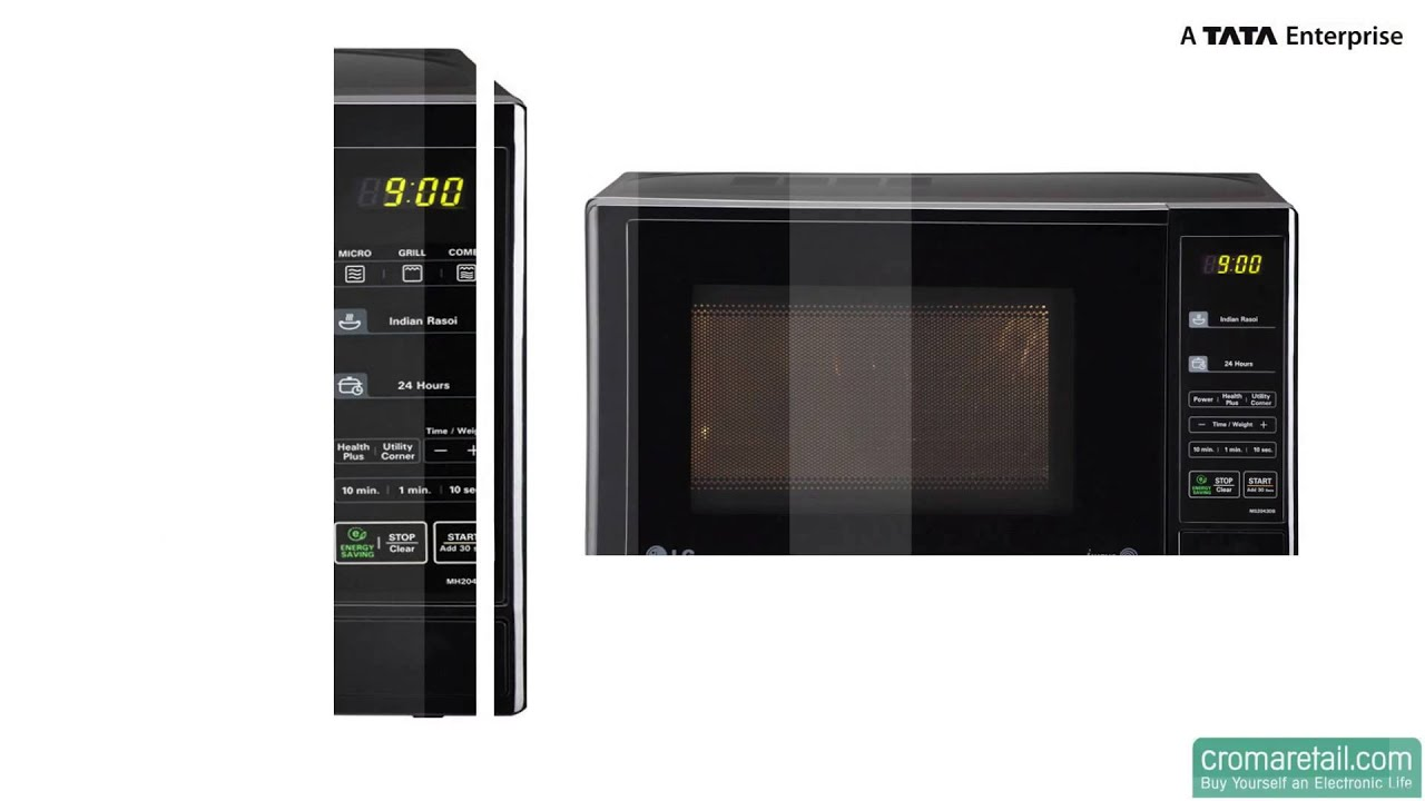 lg 20 litres ms2043db solo microwave oven