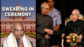 President Mukherjee to exchange seat with Ramnath Kovind today in the presence of Chief Justice