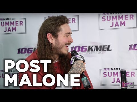 Post Malone talks with Shay Diddy backstage at SUMMER JAM 2017