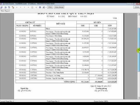 Hướng dẫn tạo mới phương thức thu chi, xem báo cáo công nợ trong VsoftBMS.flv
