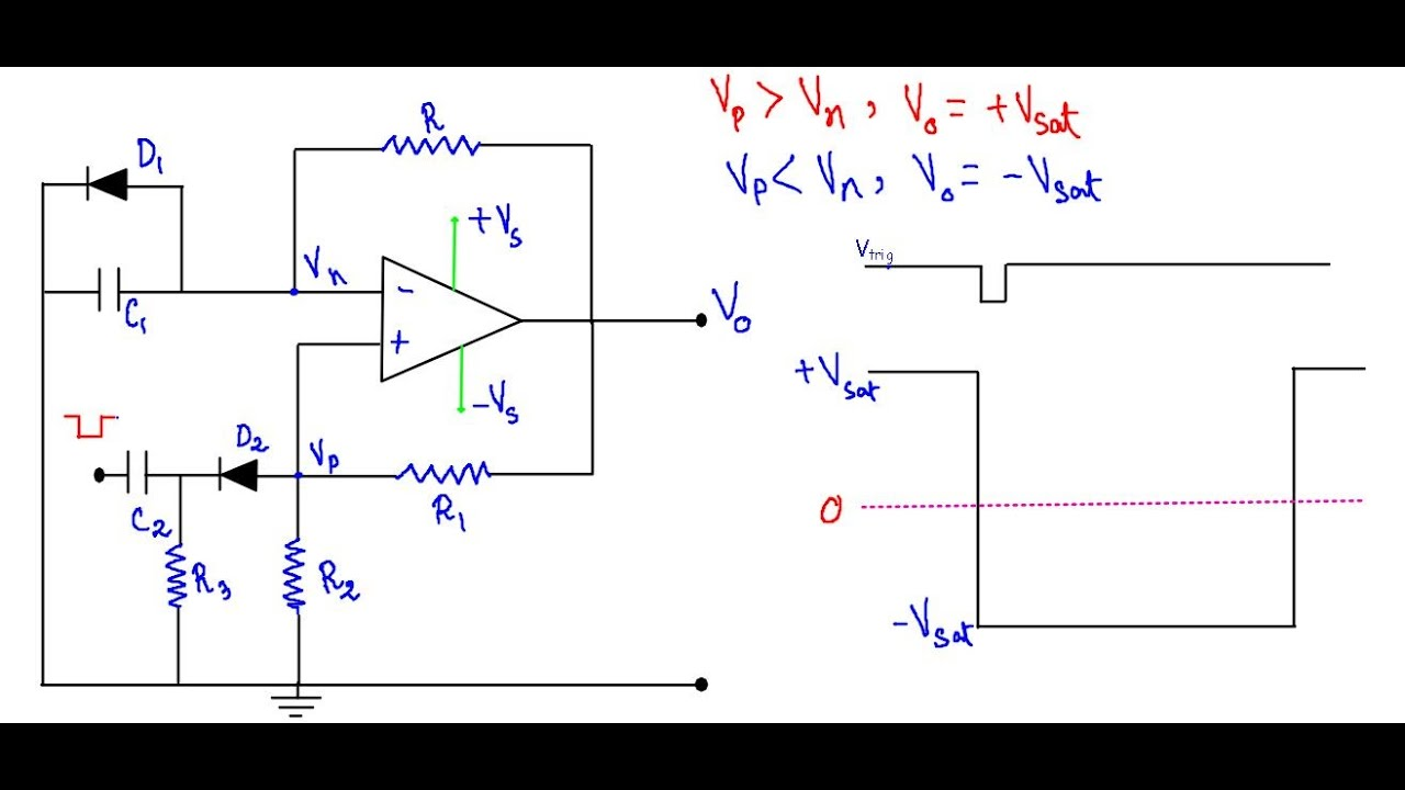 Op Amp Monostable Multivibrator Youtube The 555 Bistable Circuit Electronics In Meccano