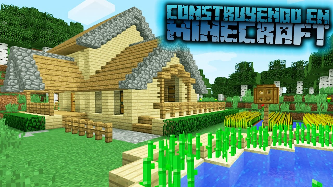 Como hacer una casa de campo para survival en minecraft for Casas minecraft planos