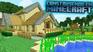 Como hacer una casa de campo para survival en minecraft OmarZcraft