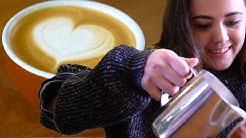 Coffee Lovers Learn To Do Latte Art