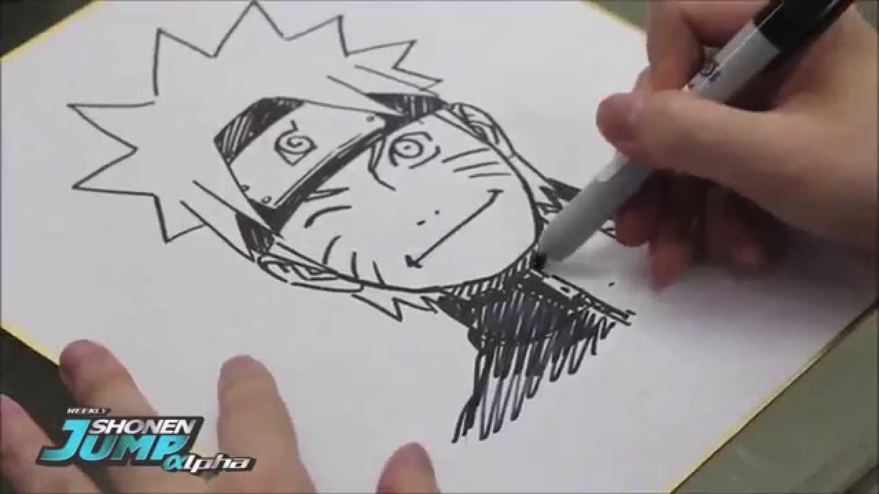 Masashi Kishimoto Drawing Naruto - YouTube