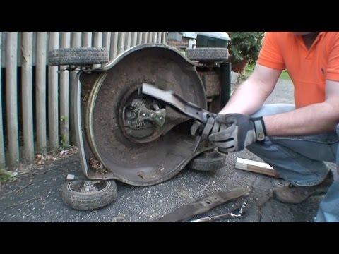 honda lawnmower maintenance   oil change filter blade hd youtube