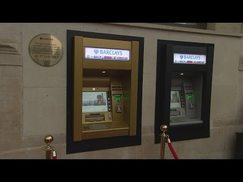 Gold cash machine to mark 50 years since its invention