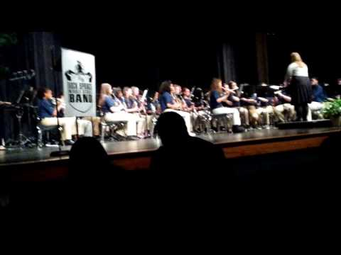 Onward! played by Rock Springs Middle School 7th and 8th grade band March 21, 2017