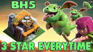 How to 3 Star Builder Hall 5 (BH5) | Best Attack Strategy 2017 | With Baby Dragon | Clash Of Clans