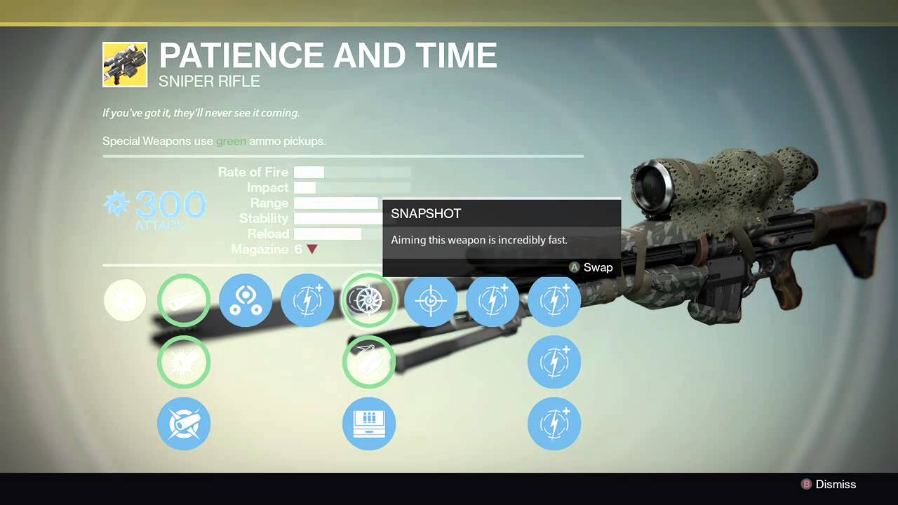 DESTINY PATIENCE AND TIME SNIPER - YouTube