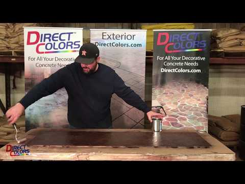 Direct Colors How to Apply Antique Concrete Stain