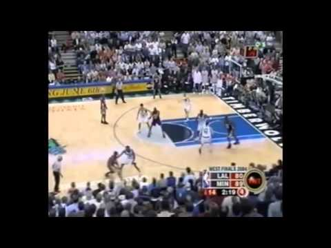 Latrell Sprewell Defense on Kobe Bryant 2004 WCF Game 5