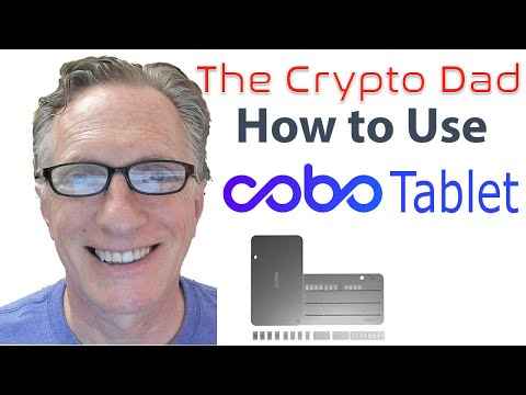 COBO Tablet For Backing Up Mnemonic Seed Phrases For Bitcoin Wallets