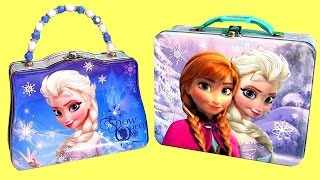 Disney FROZEN Lunch Box Surprise Boxes Anna Elsa PeppaPig Princess ClayBuddies Wikkeez