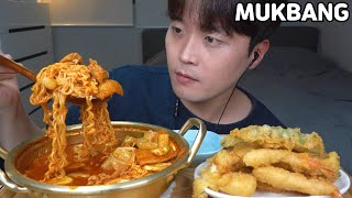 [와차밥] 🌶🌶매운닭떡볶이 오징어,새우,고추 튀김 먹방 SPICY TTEOKBOKKI & FRIED FOOD MUKBANG ASMR REAL SOUND EATING SHOW